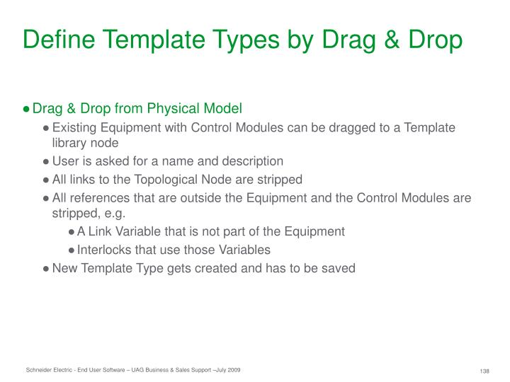 Define Template Types by Drag & Drop