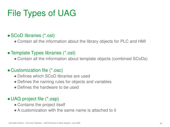 File Types of UAG