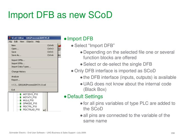 Import DFB as new SCoD