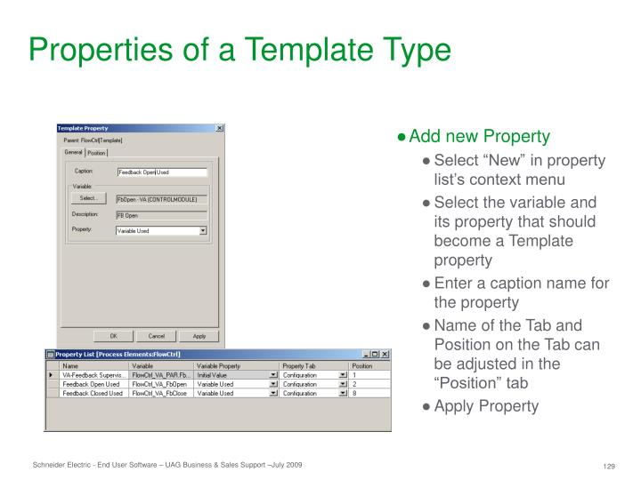 Properties of a Template Type