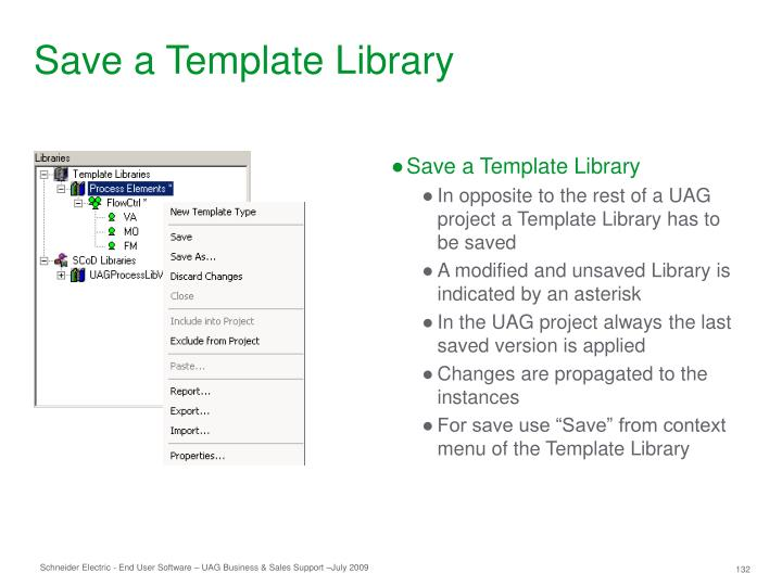 Save a Template Library