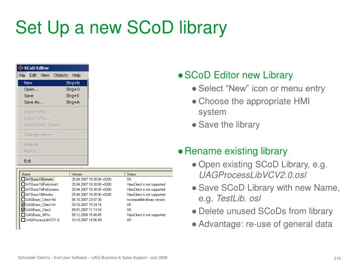 Set Up a new SCoD library