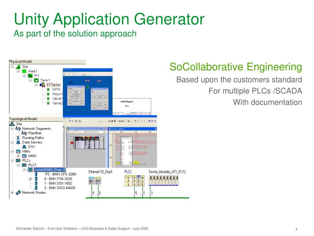 PPT - Unity Application Generator PowerPoint Presentation