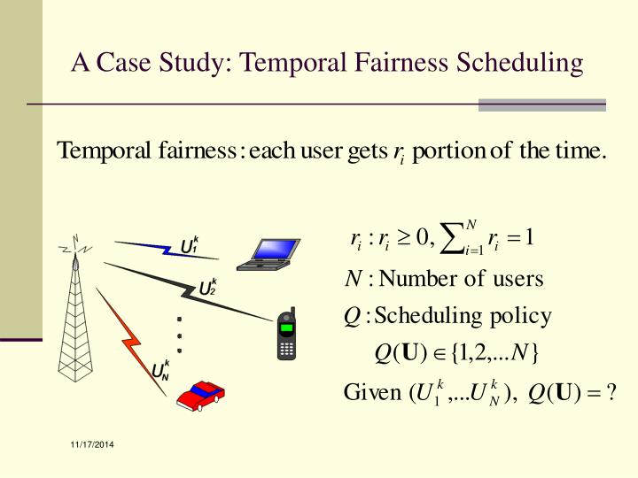 A Case Study: Temporal Fairness Scheduling