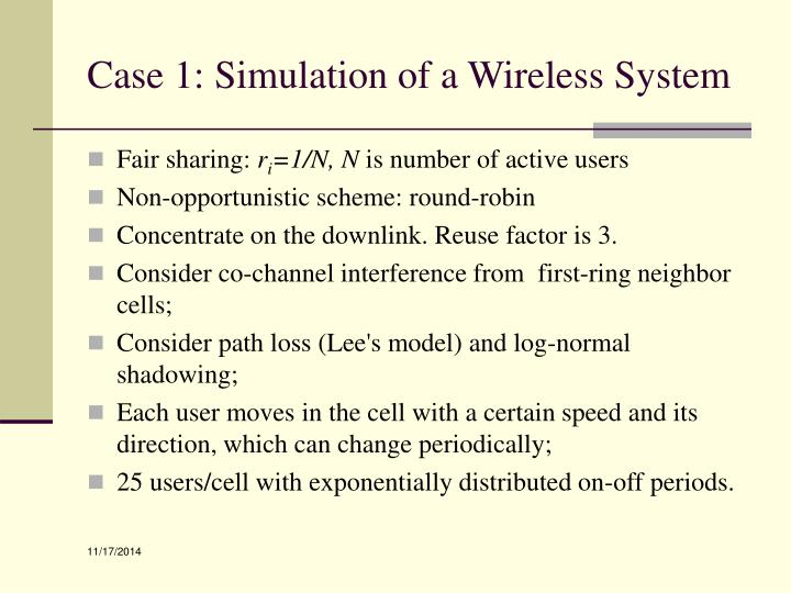 Case 1: Simulation of a Wireless System