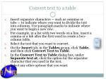 convert text to a table