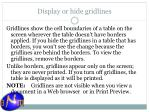 display or hide gridlines