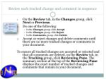 review each tracked change and comment in sequence