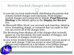 review tracked changes and comments