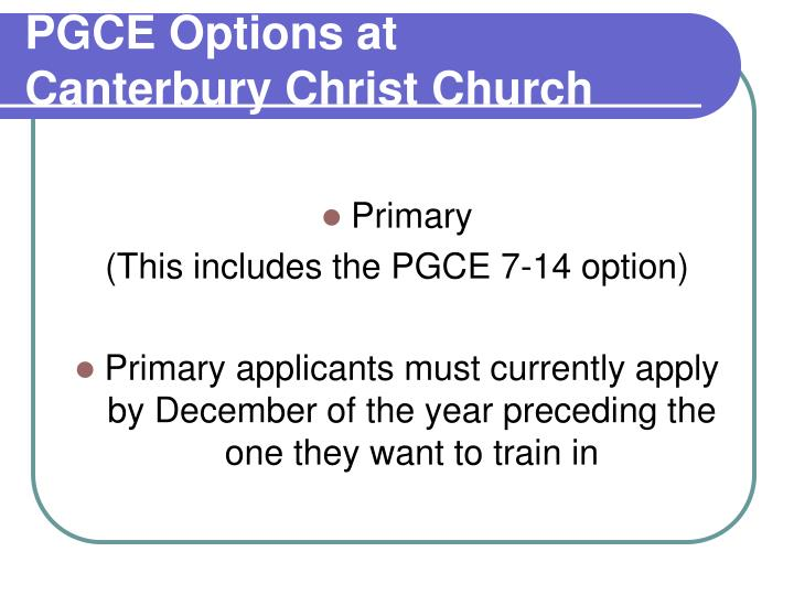 Pgce options at canterbury christ church