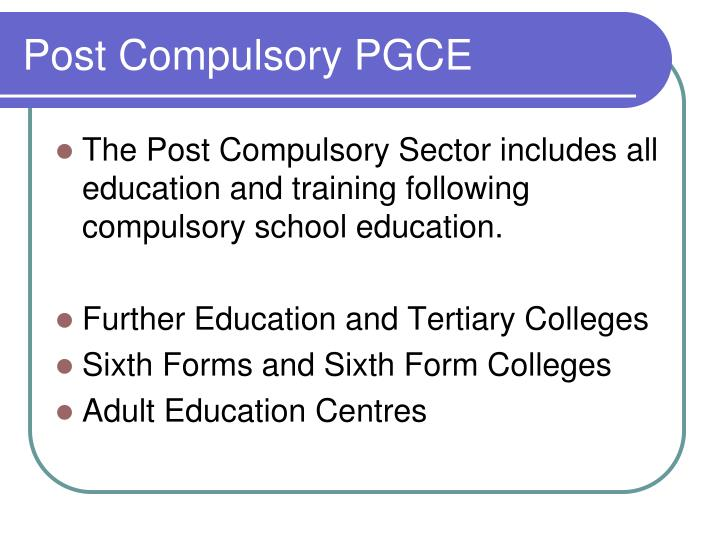 Post Compulsory PGCE