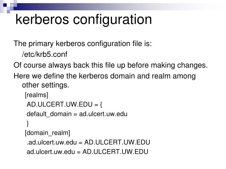 kerberos configuration