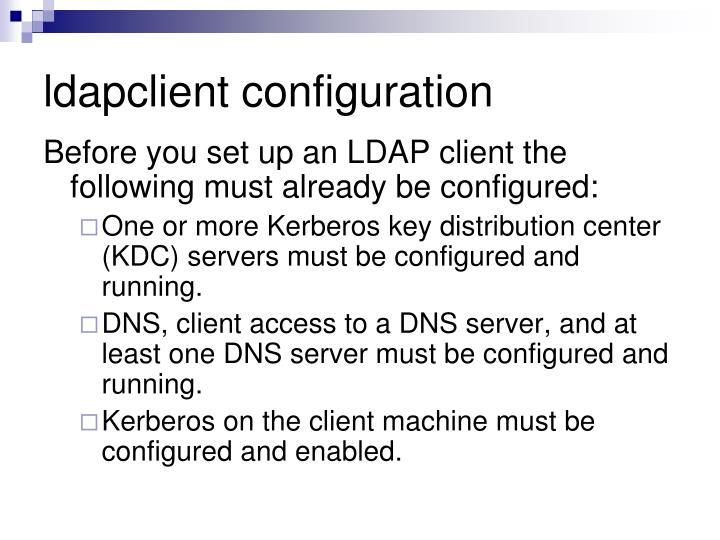 ldapclient configuration