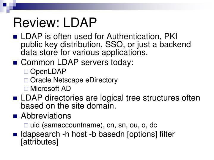 Review: LDAP