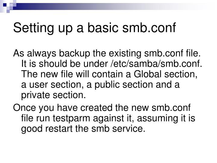 Setting up a basic smb.conf