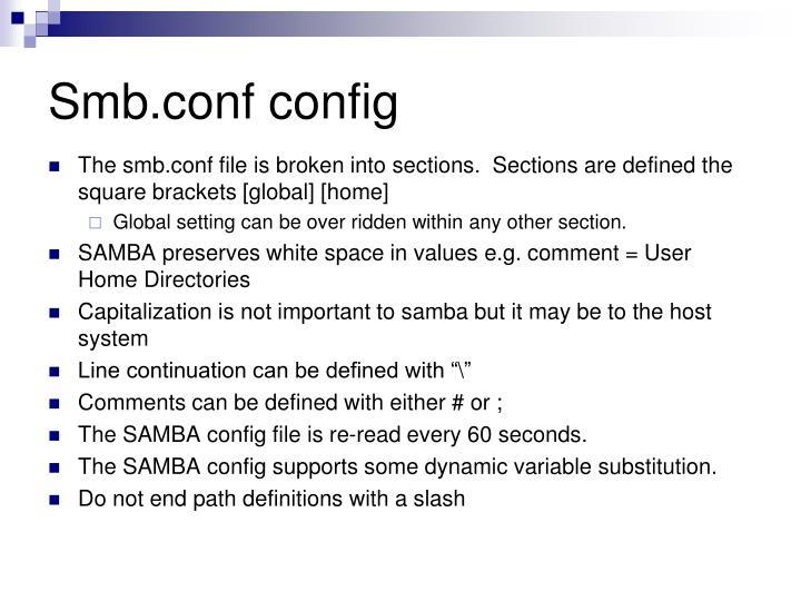 Smb.conf config