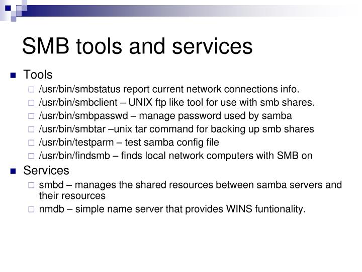 SMB tools and services