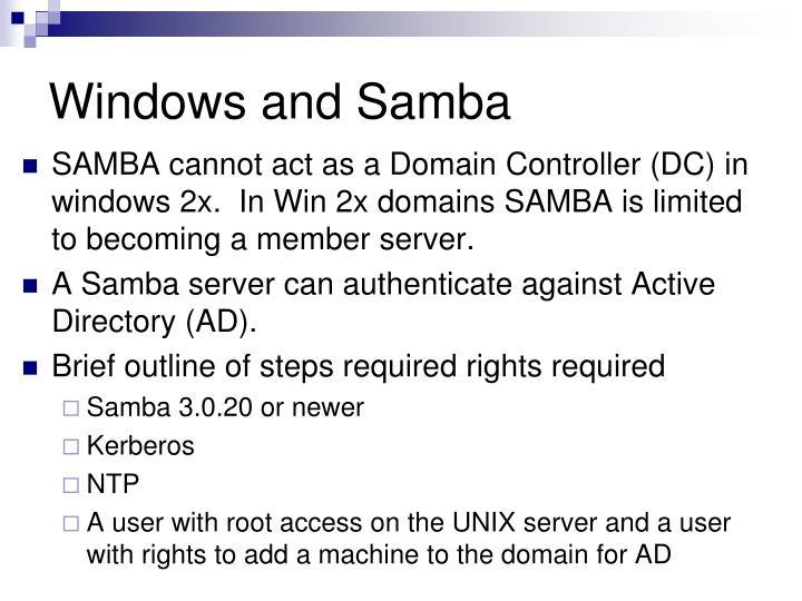 Windows and Samba