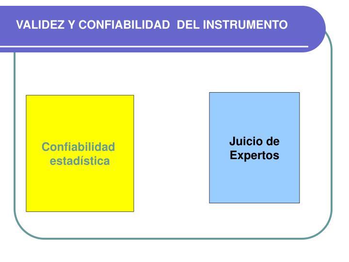 VALIDEZ Y CONFIABILIDAD  DEL INSTRUMENTO