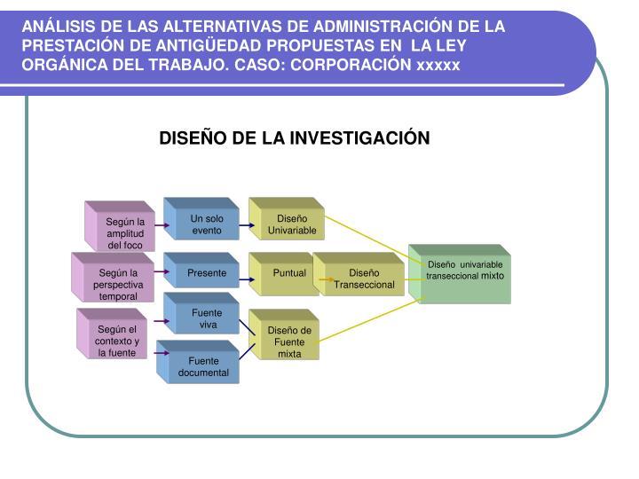 ANÁLISIS DE LAS ALTERNATIVAS DE ADMINISTRACIÓN DE LA PRESTACIÓN DE ANTIGÜEDAD PROPUESTAS EN  LA LEY
