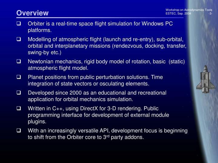 Workshop on Astrodynamics Tools