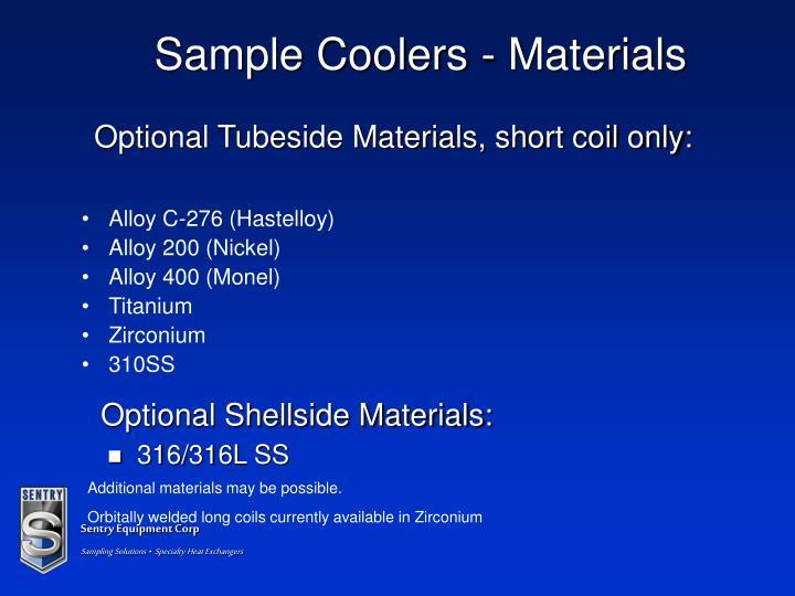 Sample Coolers - Materials