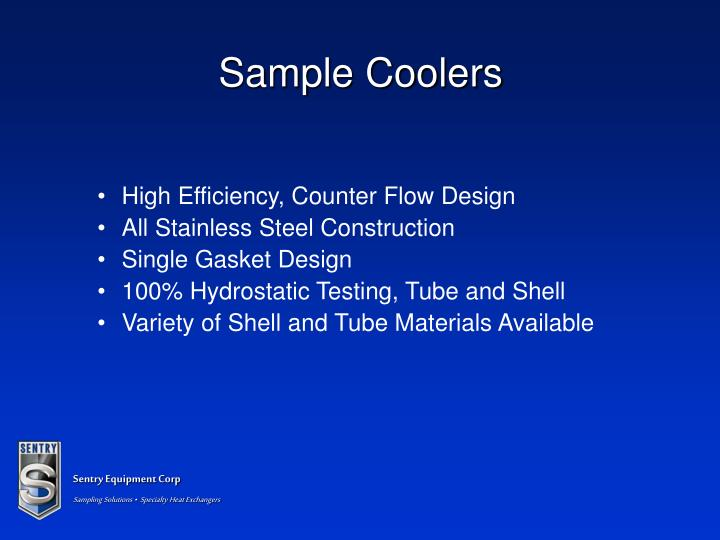 Sample Coolers