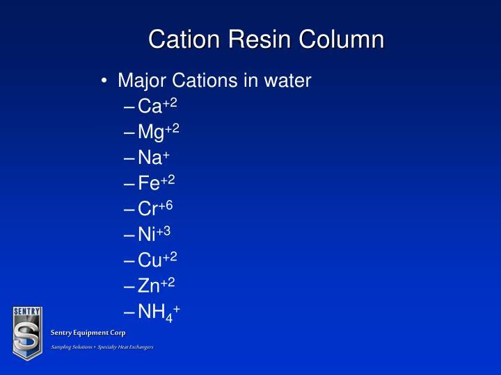 Cation Resin Column