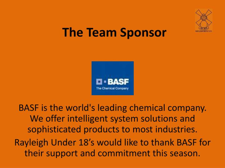 The team sponsor