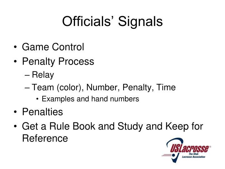 Officials' Signals