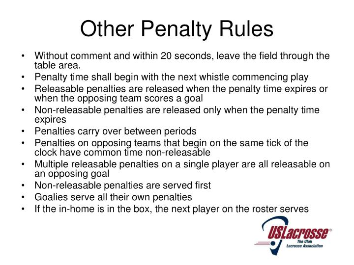 Other Penalty Rules