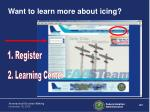 want to learn more about icing