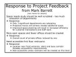response to project feedback from mark barrett see memo for details
