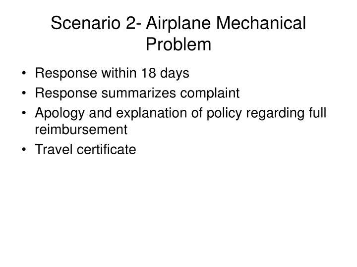Scenario 2- Airplane Mechanical Problem