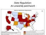 state regulation an unwieldy patchwork