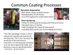common coating processes