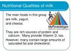 nutritional qualities of milk
