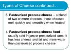 types of cheese continued