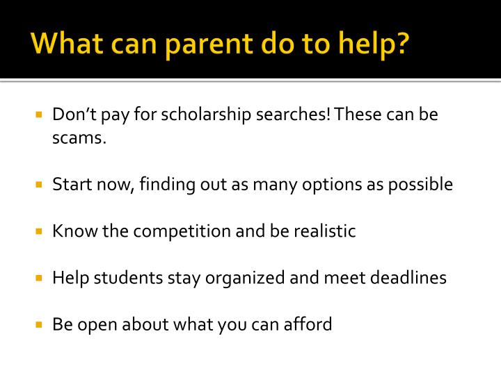 What can parent do