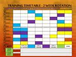 training timetable 2 week rotation