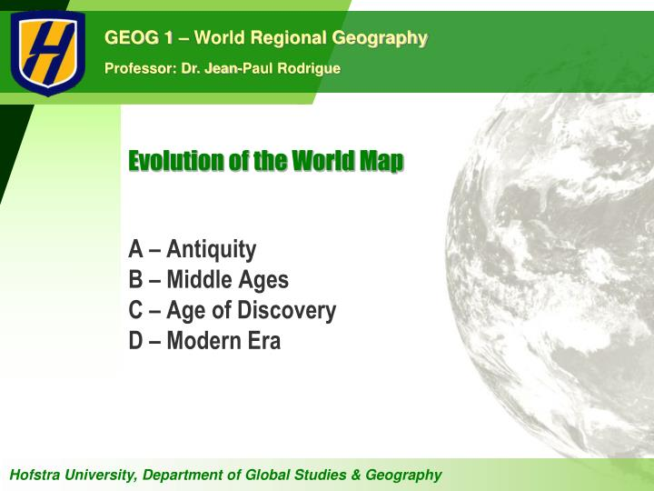 evolution of the world map n.