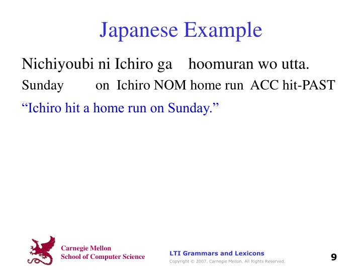 Japanese Example