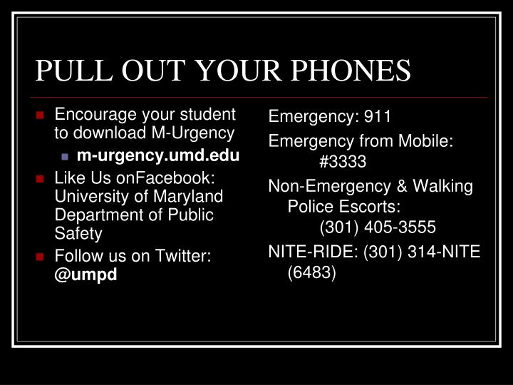 PULL OUT YOUR PHONES
