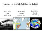 local regional global pollution