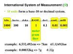 international system of measurement si