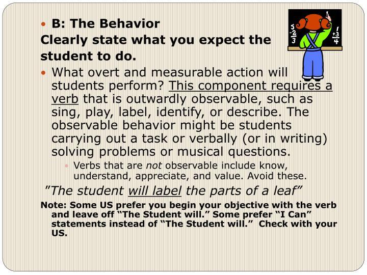 B: The Behavior