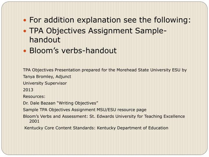 For addition explanation see the following:
