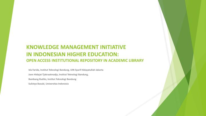 Knowledge Management Initiative