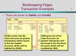 bookkeeping pages transaction examples