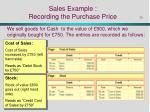 sales example recording the purchase price
